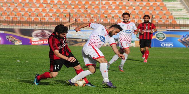 التعادل الإيجابي يسيطر على مباراة الجيش وحرفيي حلب
