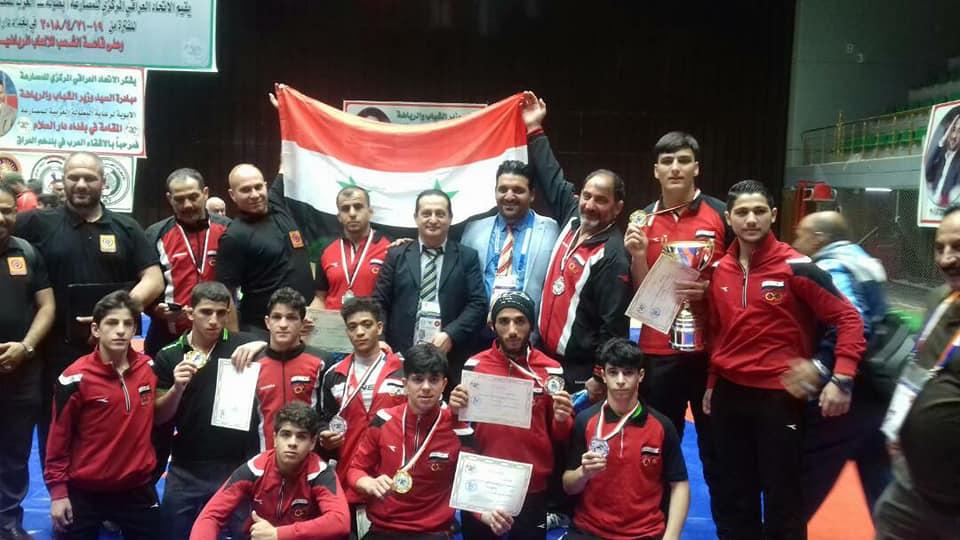 أربع ذهبيات وفضيتان وبرونزية للمصارعة الحرة في بطولة العرب