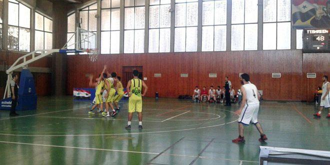 النواعير يفوز على تشرين في دوري كرة السلة للرجال