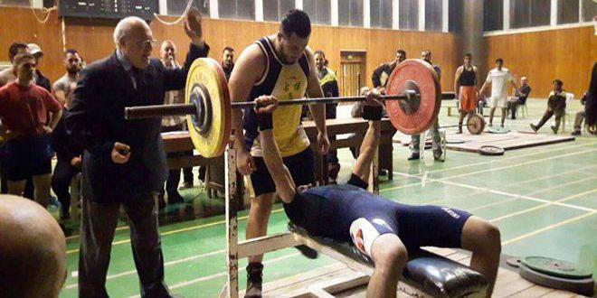 عمار ياسين يتحضر لبطولة أقوى رجل في سورية