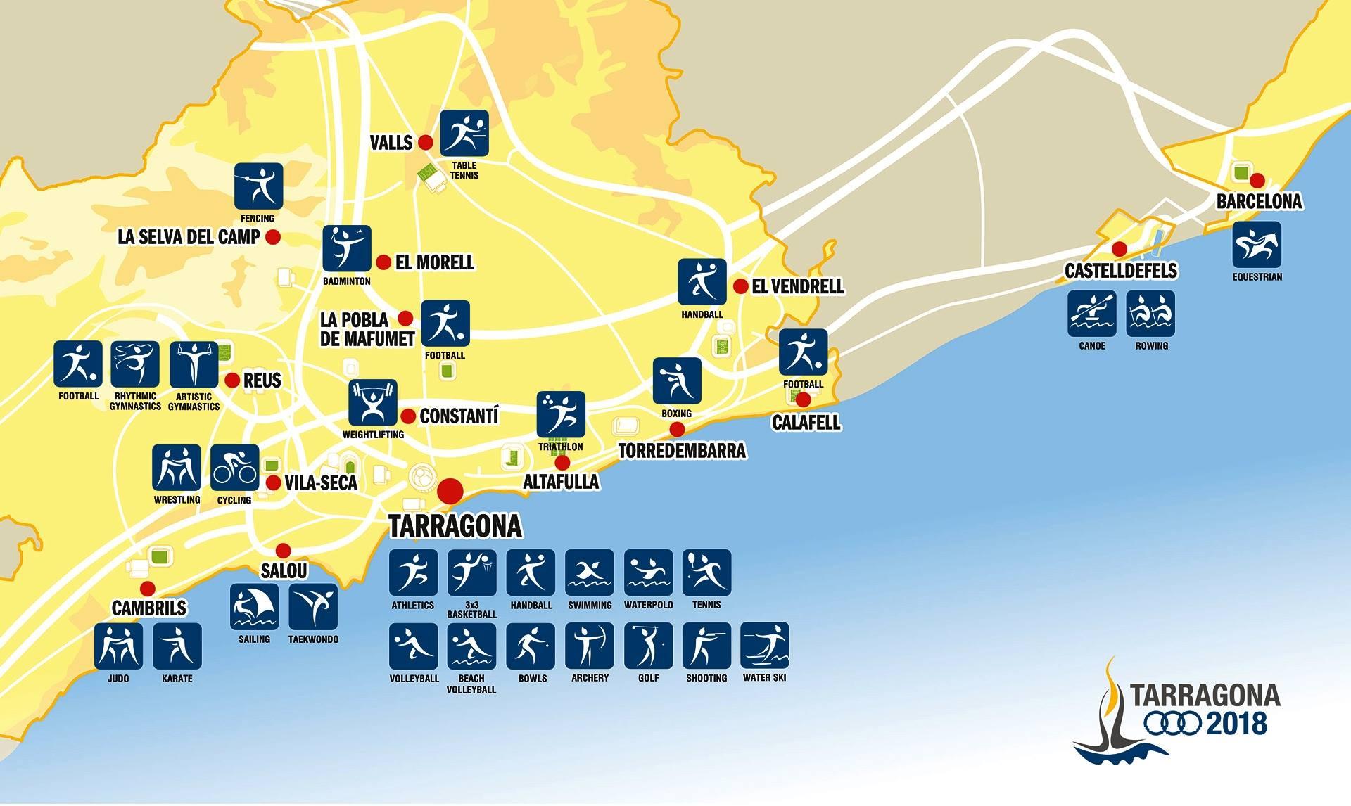 برنامج مباريات البعثة السورية في دورة ألعاب البحر الأليض المتوسط