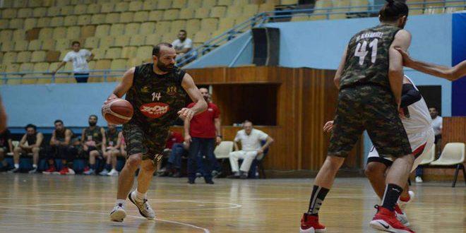 فريق الجيش يتصدر ذهاب نصف نهائي دوري كرة السلة للرجال