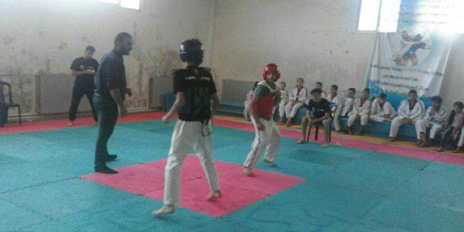 منافسة قوية بين ناديي شهبا والعربي في رياضة التايكواندو ضمن بطولة القسم بالسويداء