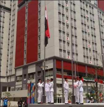 العلم السوري يرفرف عالياً في سماء جاكرتا .. ولقاء أولمبي كرتنا مع الصين