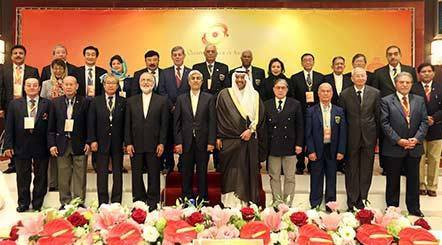اللواء جمعة يقدم مقترحاته لتطوير الرياضة الآسيوية باجتماعات المجلس الآولمبي الآسيوي