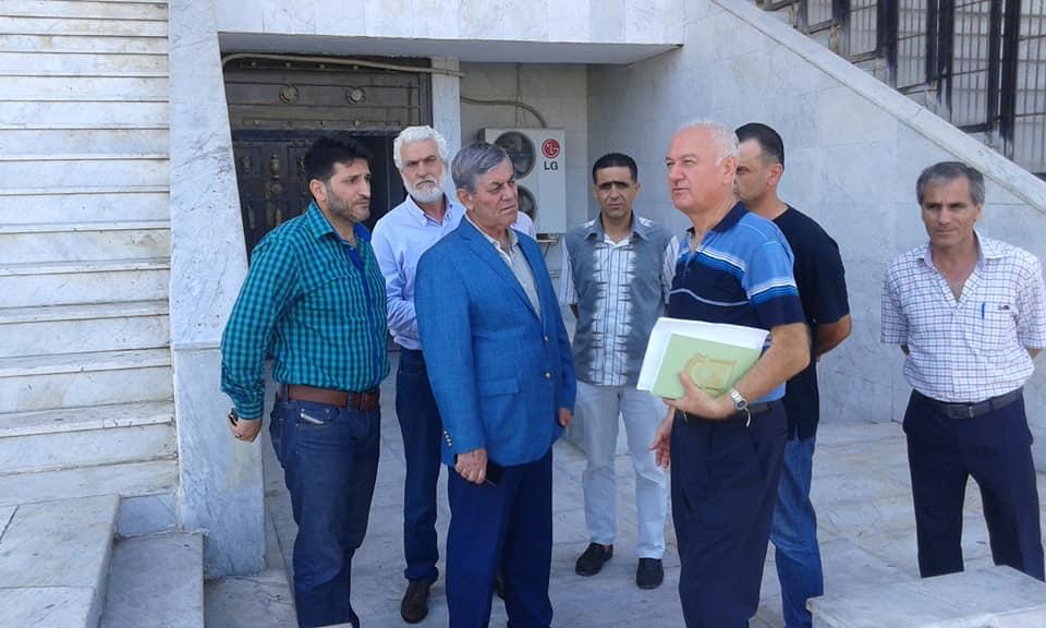 اللواء جمعة يطلع على واقع العمل في مدينة الاسد الرياضية وملعب استاد الباسل الدولي