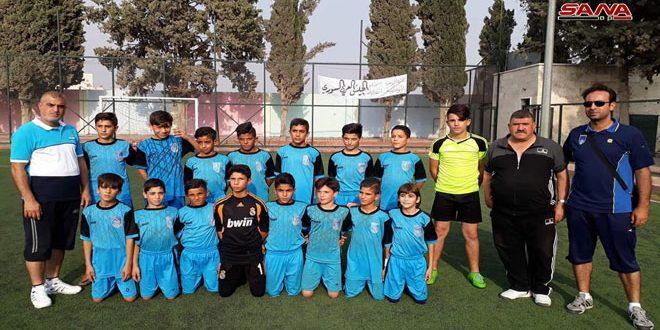 مواهب واعدة في مهرجان براعم حماة التاسع بكرة القدم