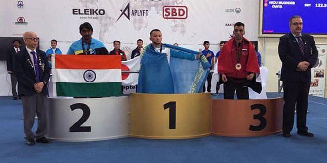 أبو مغضب يحرز ميدالية برونزية في بطولة آسيا للقوة البدنية