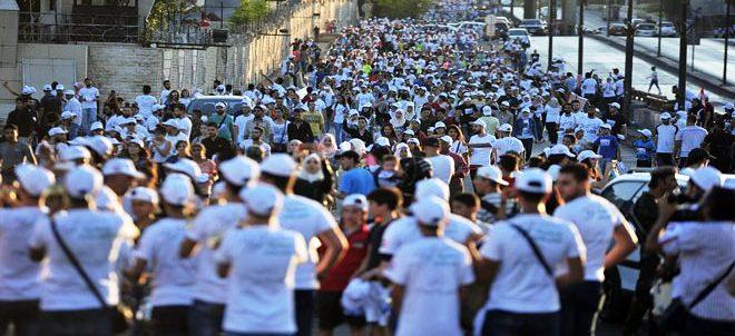 مشاركة جماهيرية كبيرة في ماراثون دمشق الرياضي (سورية السلام)