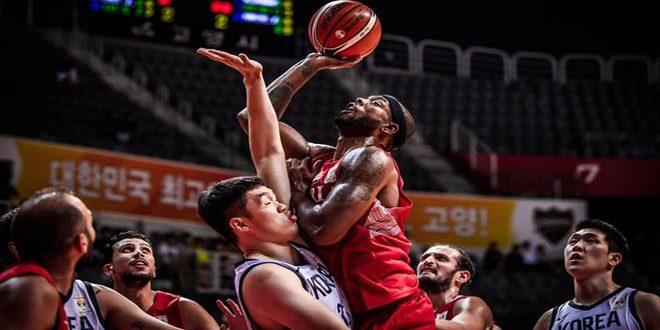 منتخب سورية لكرة السلة يخسر أمام نظيره الكوري الجنوبي