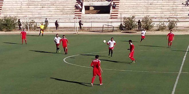 فريق الجهاد يتعادل مع عامودا في دوري الدرجة الأولى لكرة القدم