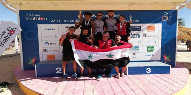 8 ميداليات لسورية في بطولتي آسيا وغرب آسيا للترياثلون والدواثلون