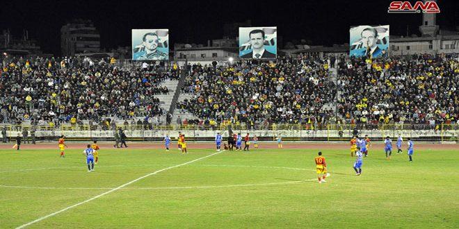 تشرين يستعيد صدارته للدوري الممتاز لكرة القدم