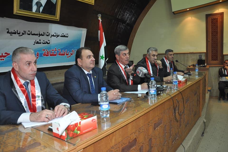 في المؤتمر السنوي لفرع ريف دمشق …اللواء جمعة : النشاط الداخلي يجب أن يكون مبرمجاً وهادفاً لانتقاء المواهب
